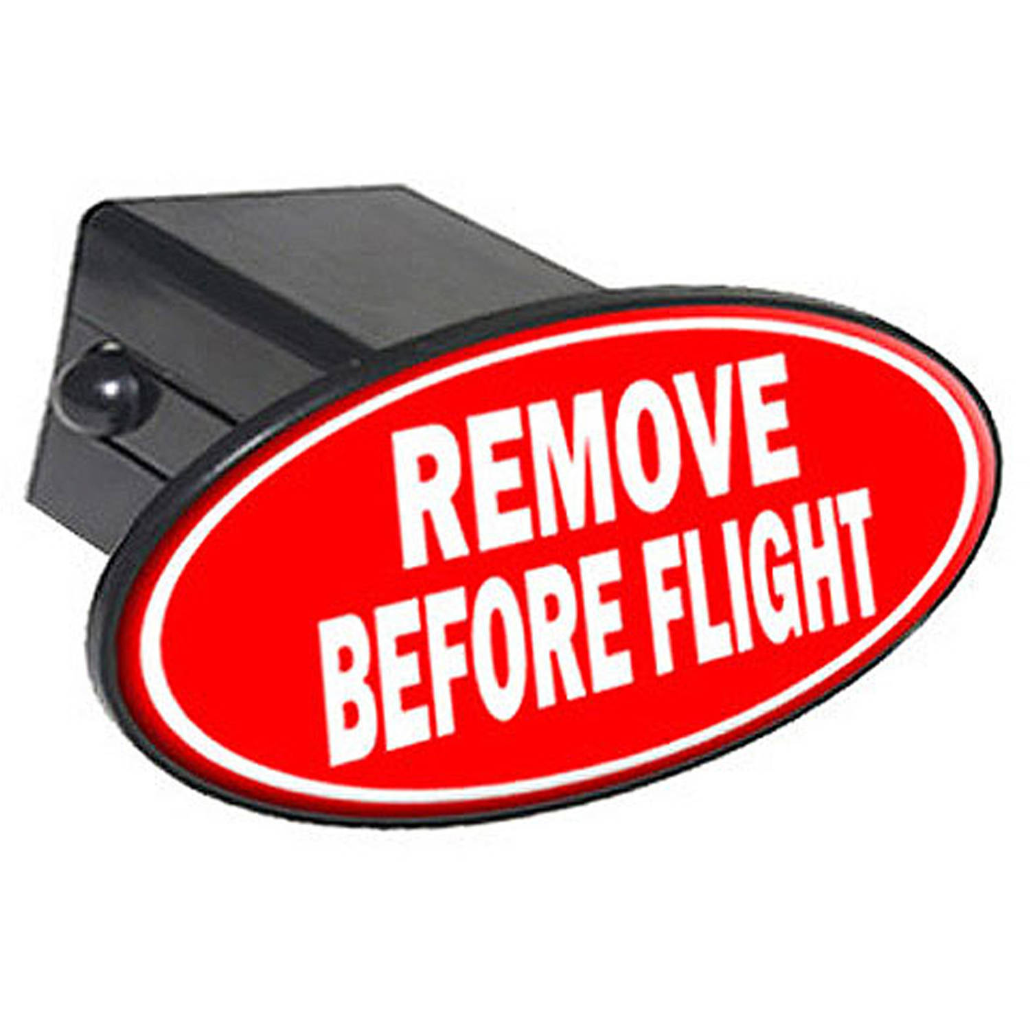 """Remove Before Flight 2"""" Oval Tow Trailer Hitch Cover Plug Insert"""