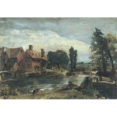 Framed Art for Your Wall Constable, John - The mill of Flatford from the lock of view [3] 10 x 13 Frame
