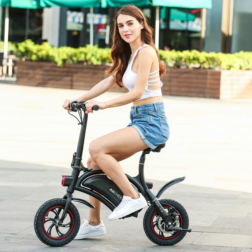 Mini  Folding Electric Bike Aluminum Electric Bicycle 20KM Range Portable eBike CEAER
