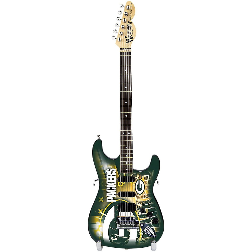 Woodrow NFL Mini Collectible Guitar, Green Bay Packers