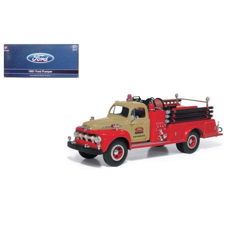 FIRST GEAR 1:34 1951 FORD PUMPER RED COLOR 19-3980