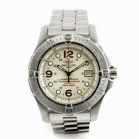 Pre-Owned Breitling Superocean A17390 Steel  Watch (Certified Authentic & Warranty)