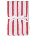 Harold Import Company Striped Dish Cloth (Set of 2), Red and White