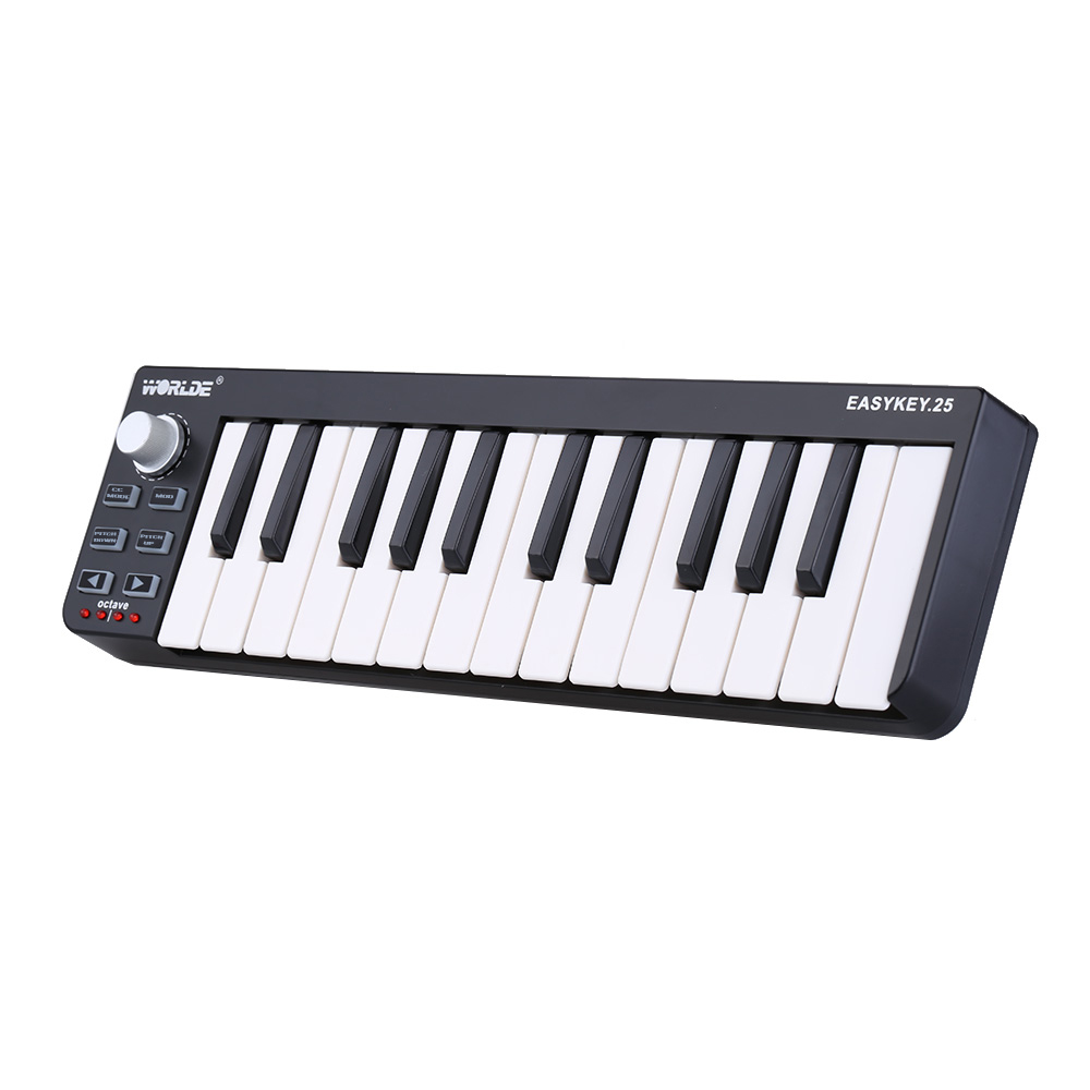 KKmoon Worlde Easykey.25 Portable Keyboard Mini 25-Key USB MIDI Controller Electronic... by