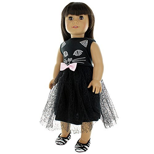 """Doll Clothes Black Cat Outfit Fits 18"""" American Girl & Other 18"""" Inch Dolls by Pink Butterfly Closet"""