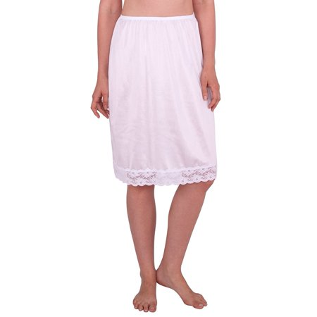 Lace Trim Half Slip (Women's Half Slip with Lace Details, Anti- Static)