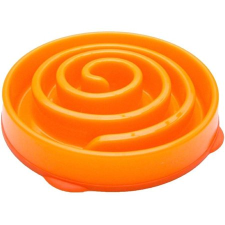 Kyjen Dog Games Slo-Bowl Slow Feeder Coral, Orange