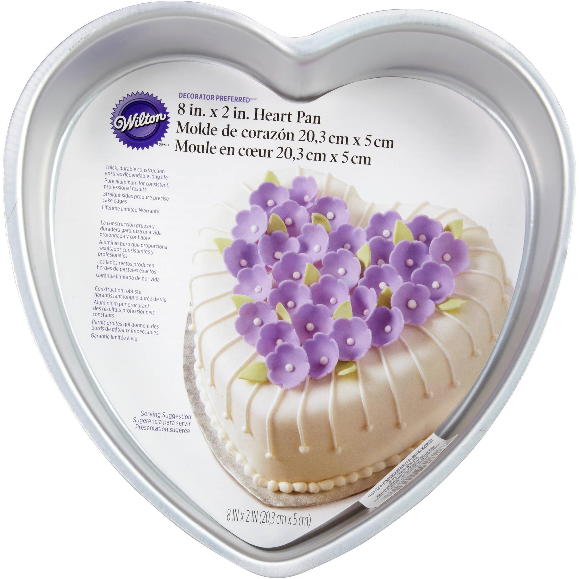 "Wilton Decorator Preferred 8"" Cake Pan, Heart 2105-601"