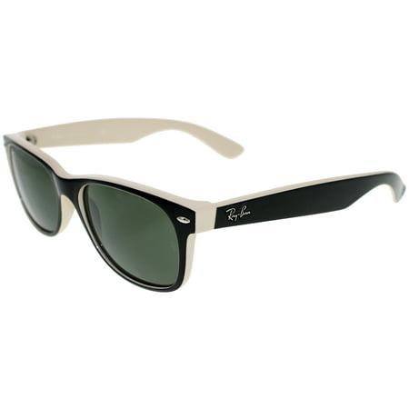 Ray-Ban Men's New Wayfarer RB2132-875-55 Black Wayfarer Sunglasses