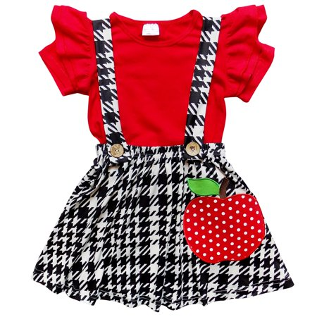 So Sydney Toddler & Girls Apple Unicorn Back to School Collection Skirt Set, Dress Or Outfit](Girls Back To School)