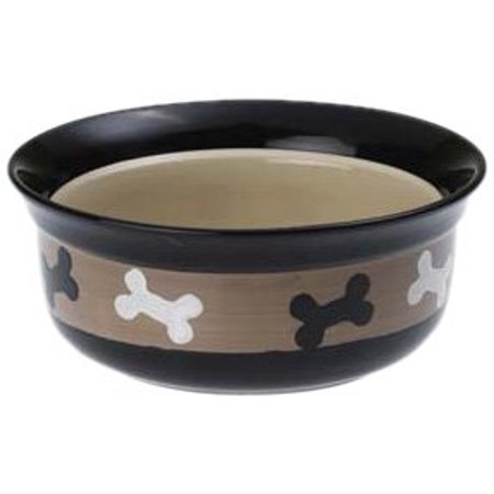 Petrageous Designs 10071 6 in. 2 Cup City Pets Bones Bowl Designs Pet Bowl