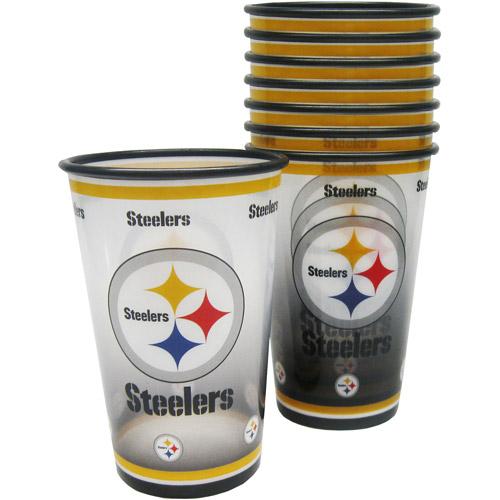 NFL 20 oz Pittsburgh Steelers Plastic Souvenir Cups, 8pk