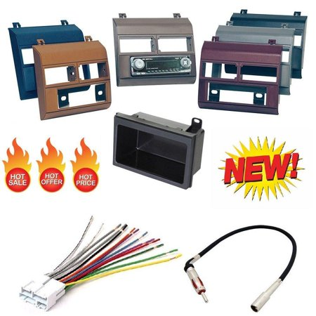 1988-1996 Chevrolet & GMC Complete Single Din Dash Kit + Pocket Kit + Wire Harness + Antenna Adapter. Available in factory colors, Black, Gray, Blue, Beige, Brown and Red ()
