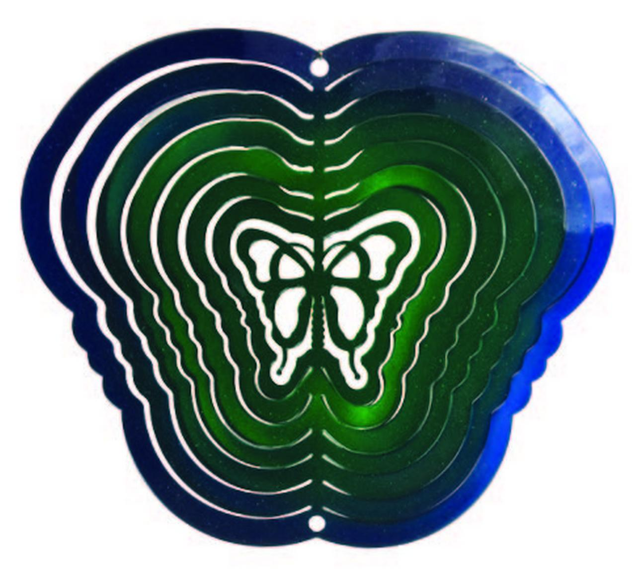 Garden Wind Spinner Butterfly Blue Green Wind Spinner by Next Innovations