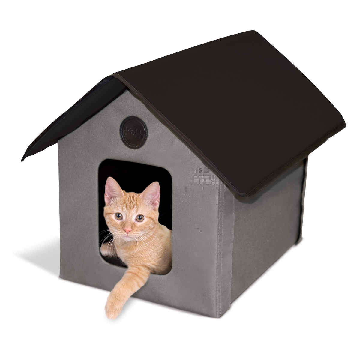 """K&H Manufacturing K;H Pet Heated Outdoor Kitty House Gray / Black 22"""" x 18"""" x 17"""""""