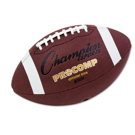 Champion Sports Pro Composite Football  Official Size  22    Brown