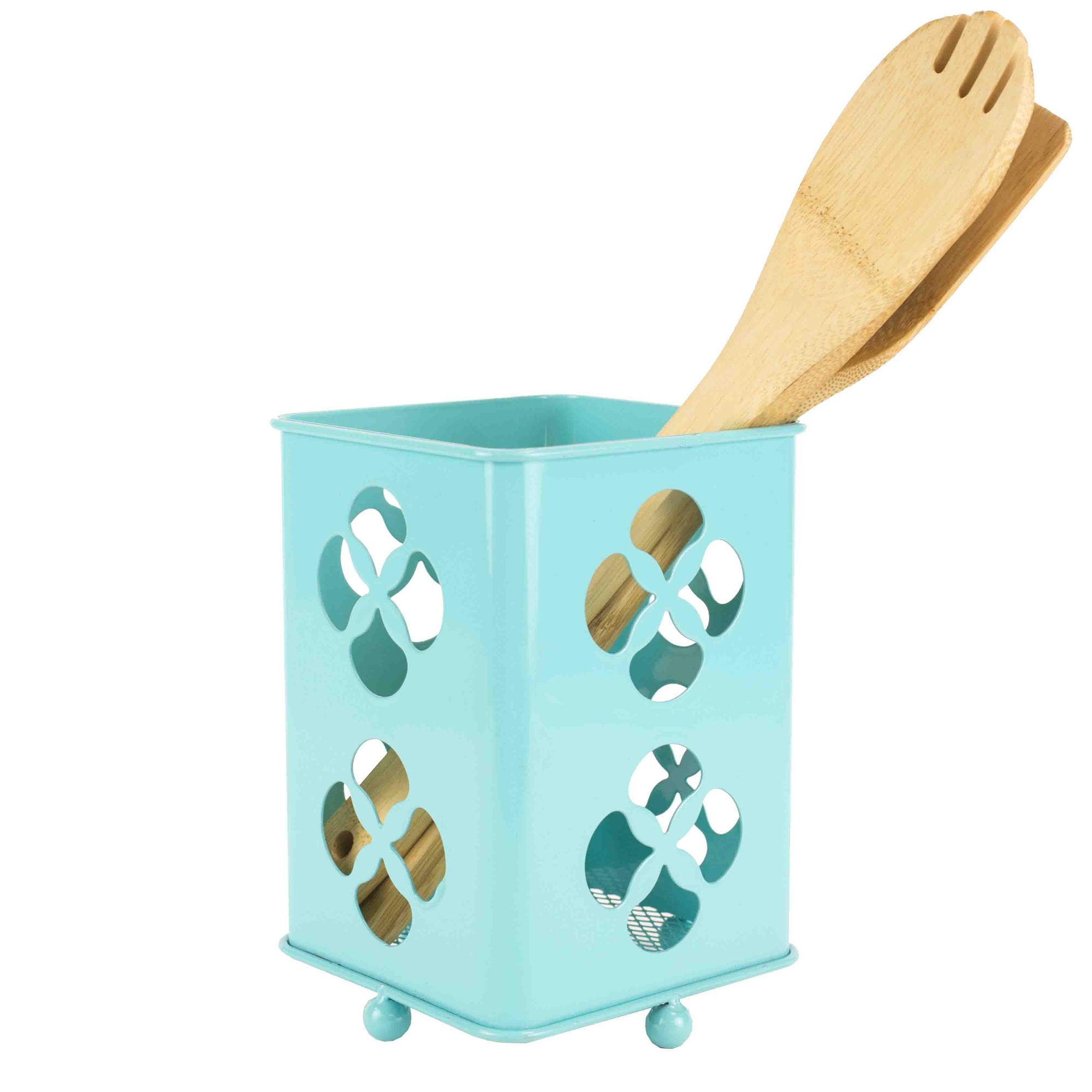 Home Basics Trinity Collection Turquoise Cutlery Holder