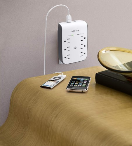 Belkin 6-Outlet Wall Mount Surge Protector with Dual USB Ports (1 AMP / 5 Watt)