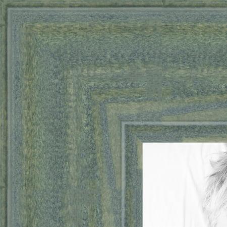 ArtToFrames Wood Picture FrameWOM0066-56673-YGRN  Palm Green Barnwood Style Frame