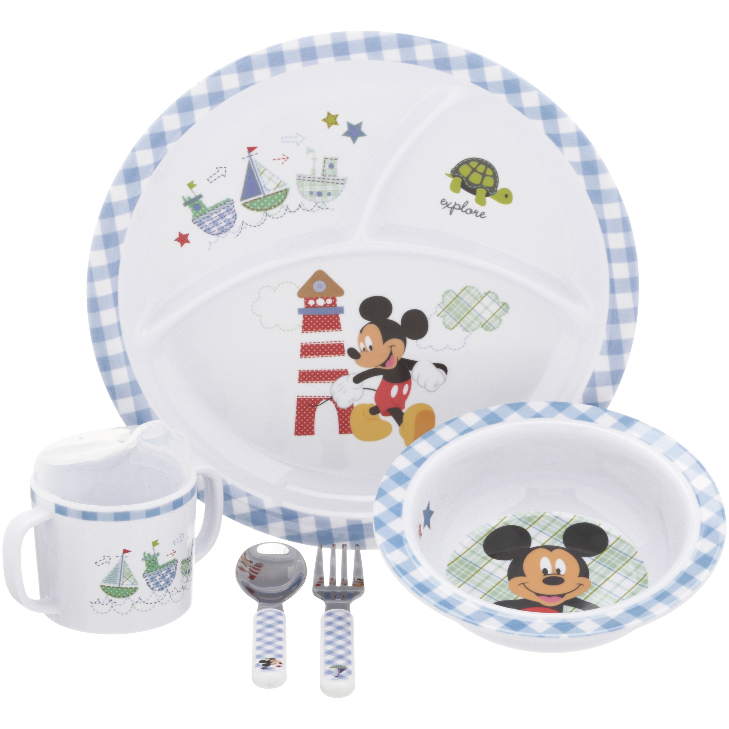 Disney Baby Mickey Mouse Dinnerware Set 5 pc Box