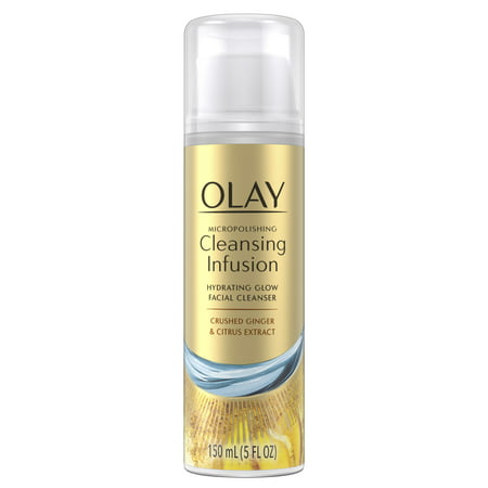 Olay Micropolishing Cleansing Infusion Facial Cleanser Ginger, 5