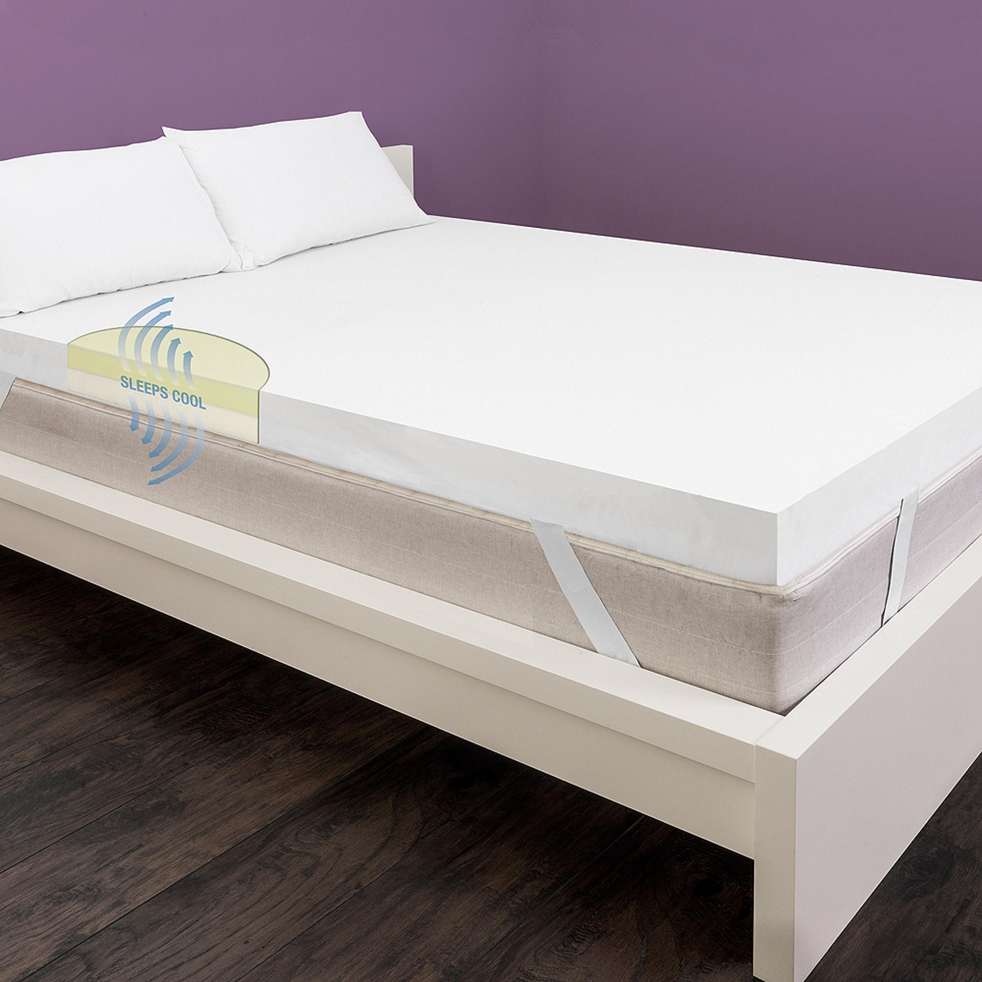 """homedics 4"""" true support mattress topper - walmart"""
