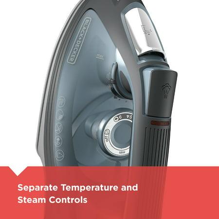 BLACK+DECKER IMPACT Advanced Steam Iron with Maximum Durability and 360 Pivoting Cord, Gray, IR3000