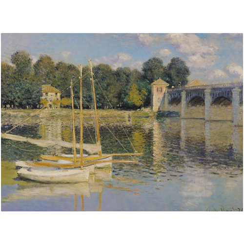 "Trademark Fine Art ""The Bridge at Argenteuil"" Canvas Art by Claude Monet"