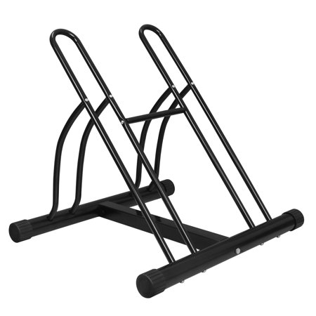 ZENY Two Bicycle Rack Bike Stand Cycling Rack Floor Storage Organizer Holder Fit 16-26