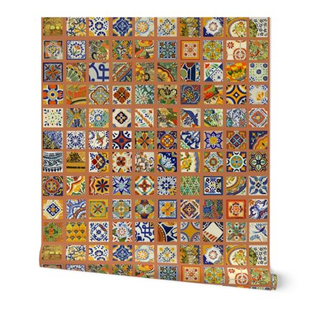 Wallpaper Roll Talavera Mexican Tile Colorful Bold 24in X 27ft Images, Photos, Reviews