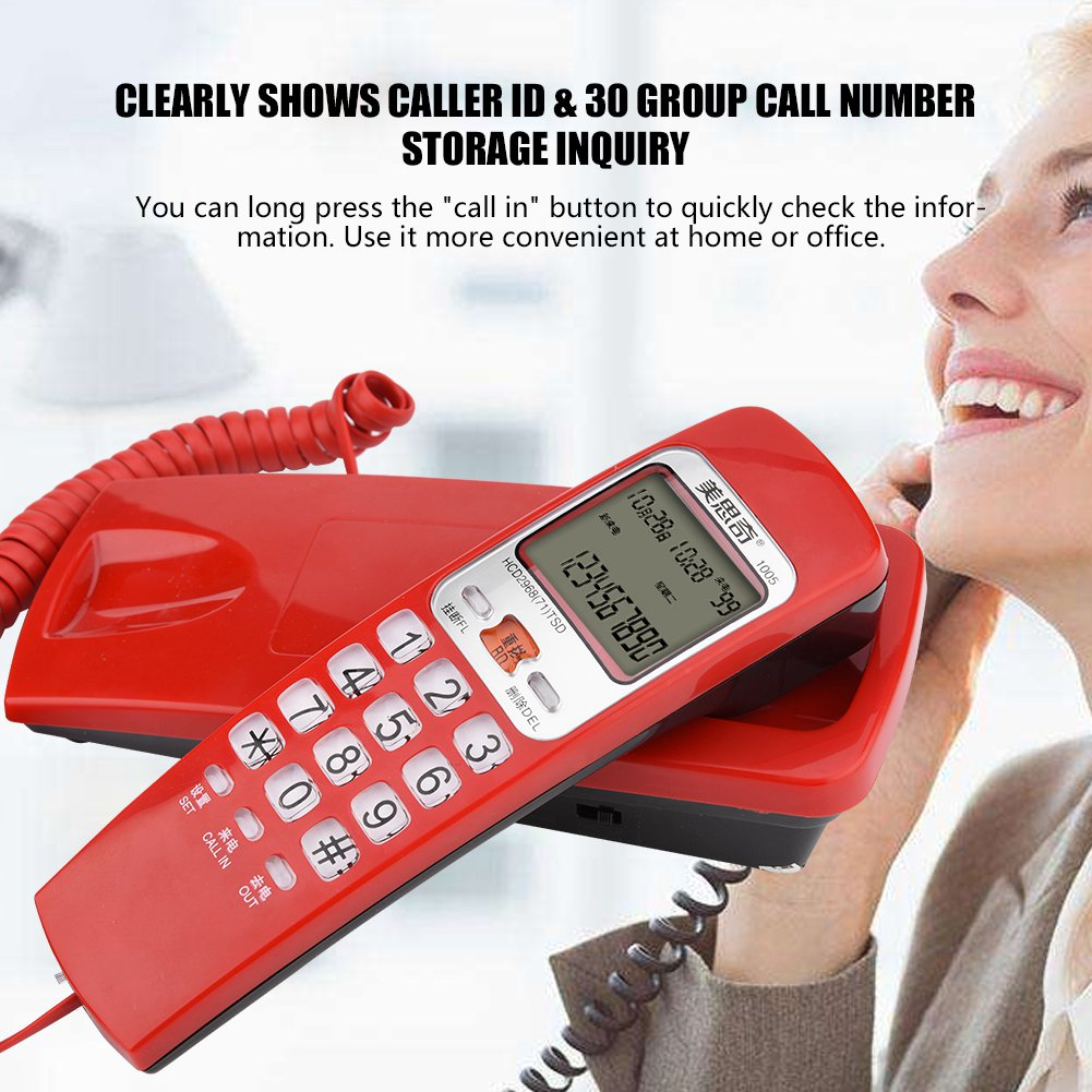 Walmart Call In Number >> Ejoyous Fsk Dtmf Caller Id Telephone Corded Phone Desk Put Landline Fashion Extension Telephone For Hom Wall Mounted Telephone Telephone