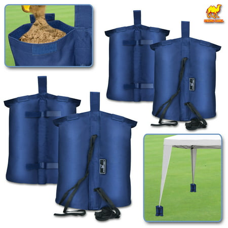 Strong Camel Weights Bag, Leg Weight for Pop up Canopy Tent Sand Bag 4 Pack Weighted Feet Bag (Blue)