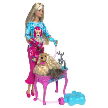 Barbie Stylin' Pup Doll &Pup Caucasion - image 1 de 1
