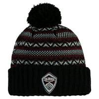 Colorado Rapids Mitchell & Ness Jacked Pom Cuffed Knit Hat - Black - OSFA