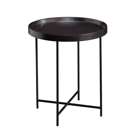 Better Homes & Gardens Montclair Round Accent Table, Black Finish