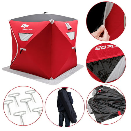 Portable 2 Person Pop Up Ice Shelter Fishing Tent Shanty