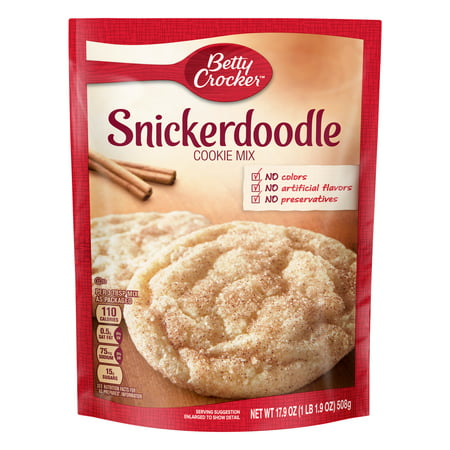 (2 Pack) Betty Crocker Snickerdoodle Cookie Mix, 17.9 - Halloween Speedy Mix