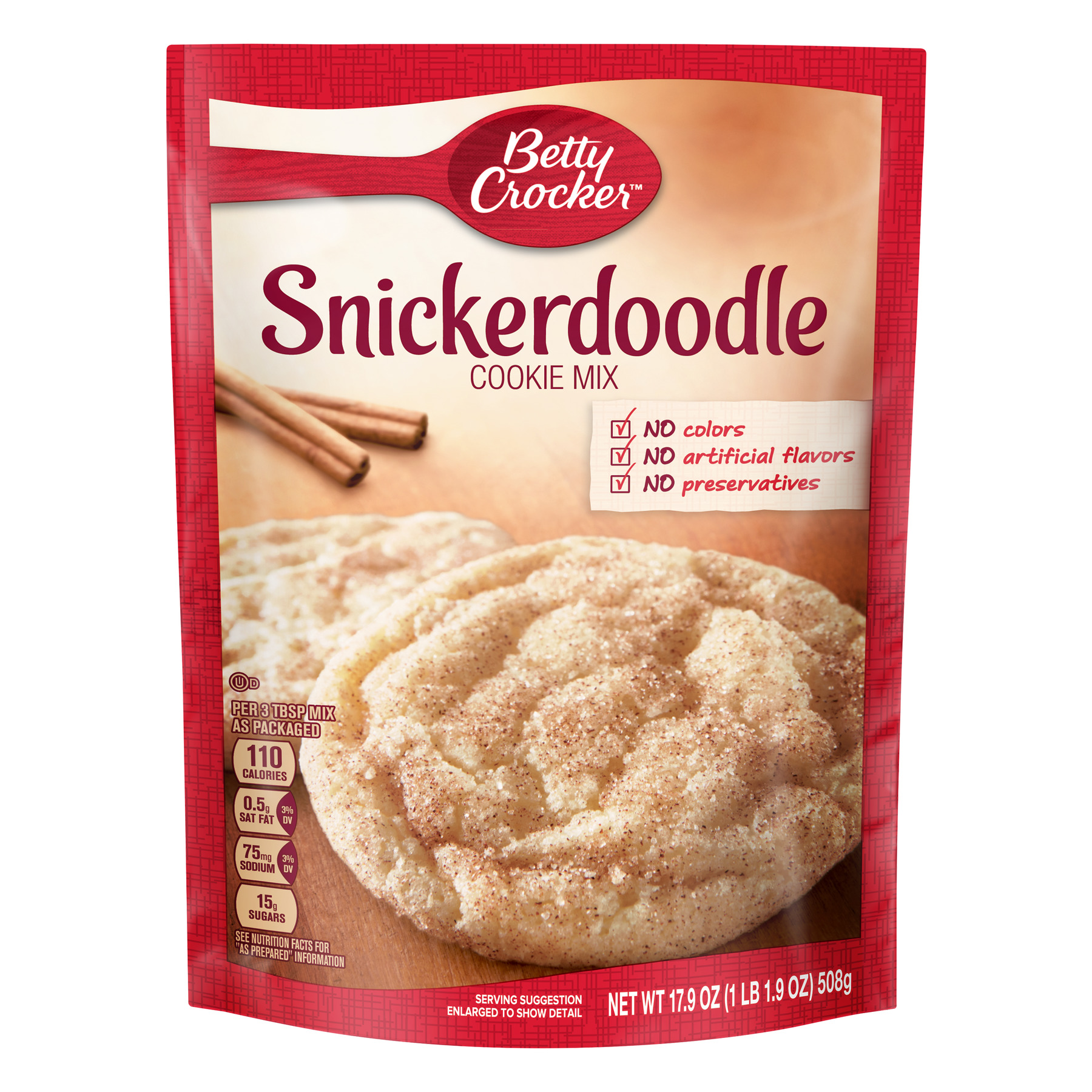 (8 Pack) Betty Crocker Snickerdoodle Cookie Mix, 17.9 oz Box