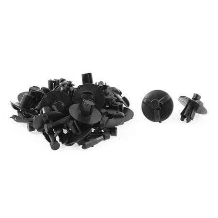 20 Pcs Black Plastic Rivet Engine Splash Lining Clips for  Corolla Camry