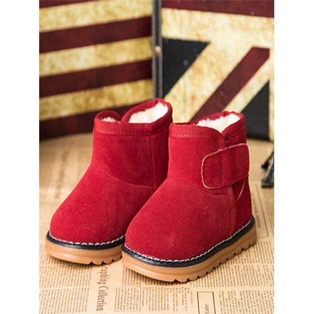 Infant Toddler Baby Girls Boots Boys Kid Winter Thick Snow Boots Fur Shoes RD (Baby Fur Boots)