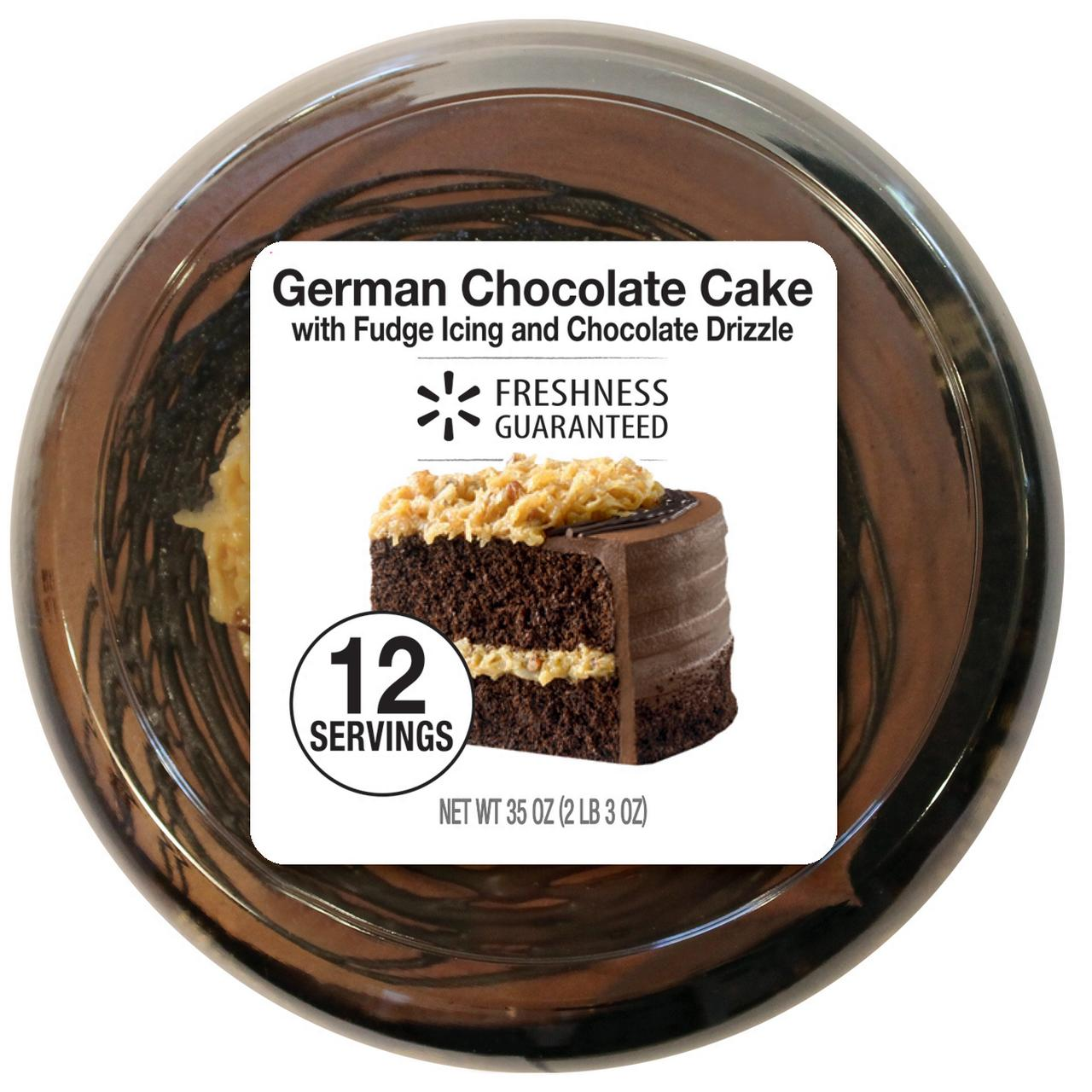 Freshness Guaranteed German Chocolate Cake 35 Oz 7 Inch Walmart Com Walmart Com