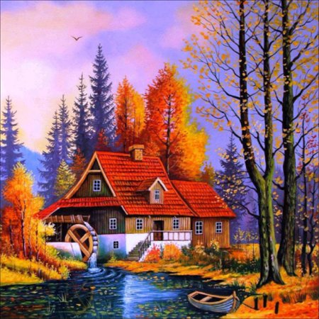 5D DIY Diamond Painting Scenery Cross Stitch Kit Full Pasting Area Diamond Painting for Home Decor Craft without