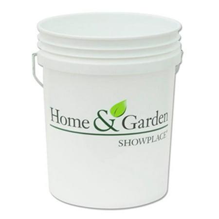 Leaktite 05GLHGS Home And Garden White Plastic Pail - 5 Gallon