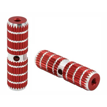 "Alloy Pegs 661 24/26t W=1.10"" l=4 1/2"" Red. Pegs for bike, bicycles, bmx, lowrider, mountain bike, beach cruiser"
