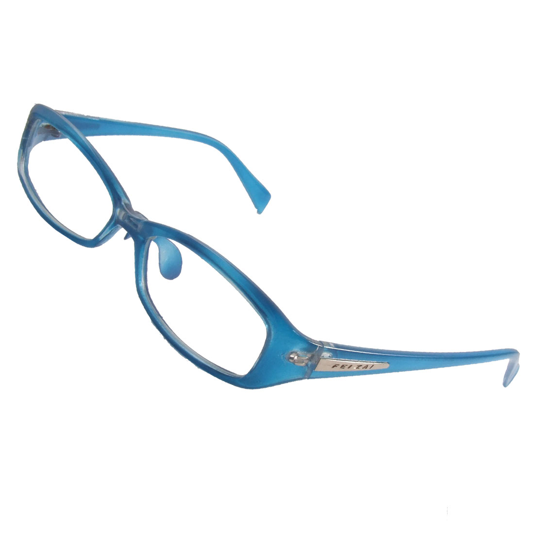 blue arm multi coated lens plain plano glasses