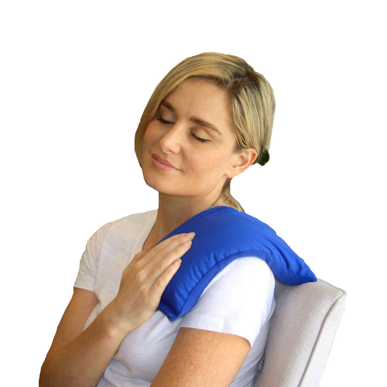 My Heating Pad- Hot Therapy Pack – Natural Heat Therapy - Stress Relief (Blue)