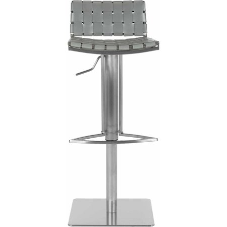 Safavieh Mitchell Regenerated Leather Bar Stool, Gas Lift, 38.5