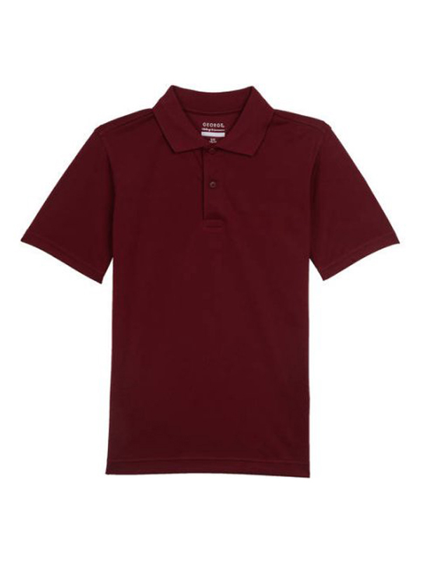 George Boys School Uniform Short Sleeve Polo Shirt 10-12 L Black