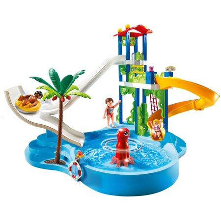 Playmobil water park with slides for Piscine playmobil