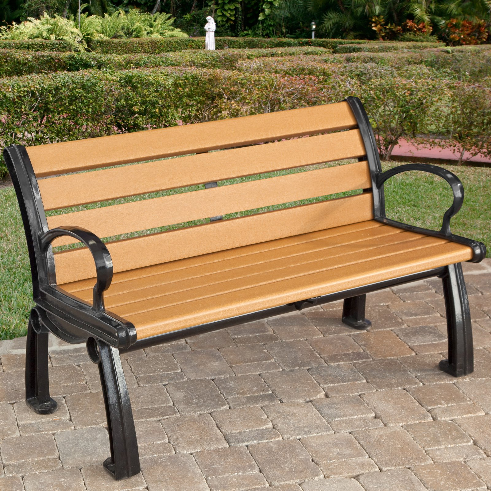 Jayhawk Plastics Heritage Recycled Plastic Park Bench by